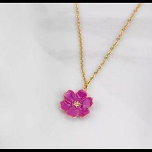 Kate Spade New York Daisy Purple Enamel Necklace